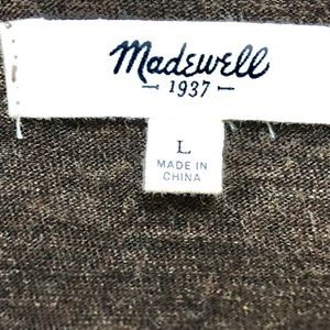 """Madewell Tops - Madewell high low 3/4"""" inch sleeve scoop neck."""